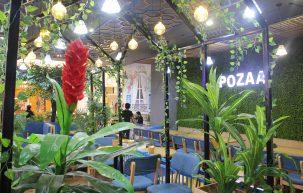 Không gian quán trà sữa Pozaa